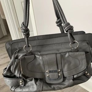 Guess Purse - Large - Gray With Silver Hardware